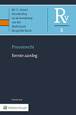 Asser Procesrecht 2 Eerste aanleg In dit Asser-deel vindtu een thematische bespreking van de civiele vorderings- en verzoekprocedure. Het boek beschrijft en becommentarieert het burgerlijk procesrecht op basis van het project KEI uiteraard met inachtneming van en verwijzing naar de actuele rechtspraak en literatuur. Een onmisbare hulp bij het voeren van een civielrechtelijke procedure!