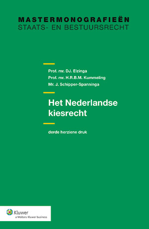 Het Nederlandse kiesrecht In deze uitgave wordt het Nederlandse kiesrecht behandeld. Voor eenieder die is geïnteresseerd in het kiesrecht en verkiezingen, worden de talrijke kieswettelijke regelingen op een overzichtelijke wijze uitgelegd.