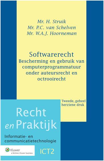 Softwarerecht Dit handboek behandelt de auteurs- en octrooirechtelijke bescherming van computerprogramma's. Nadat de eerste druk van dit boek in 1995 verscheen naar aanleiding van de implementatie in de Nederlandse Auteurswet van de EG-richtlijn Softwarebescherming, hebben zich vele ontwikkelingen op dit gebied van de intellectuele eigendom voorgedaan.