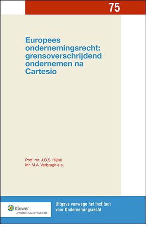 Europees ondernemingsrecht: grensoverschrijdend ondernemen na Cartesio Centraal in deze uitgave staat het arrest van het Hof van Justitie van de Europese Unie over Cartesio, de Hongaarse vennootschap die haar bestuurscentrum naar Italië verplaatste.