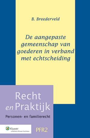De aangepaste gemeenschap van goederen bij echtscheiding Op 1 januari 2012 treedt in werking de Wet aanpassing wettelijke gemeenschap van goederen.In dit boek wordt de gemeenschap van goederen beschreven volgens deze aangepaste wettelijke regeling.