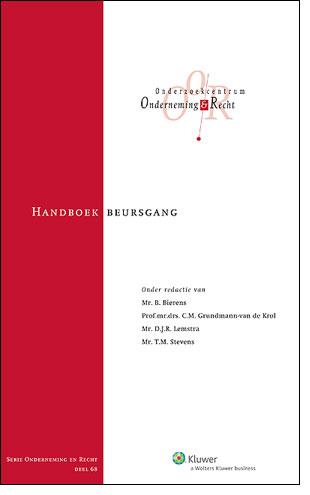 Handboek Beursgang <p>In de Nederlandse juridische literatuur ontbreekt een actueel overzicht van de juridische aspecten van een beursgang. Dit Handboek beoogt in deze leemte te voorzien.</p>