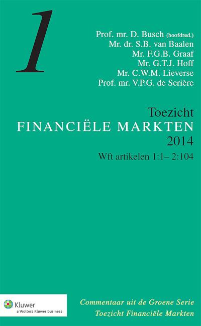 """Groene Serie Toezicht Financiële Markten Het Groene Serie-deel Toezicht Financiële Markten biedt u gezaghebbend commentaar op de wet- en regelgeving binnen het toezicht op de financiële markten. <br /><br />Deze online uitgave maakt deel uit van de<a href=""""/navigator/collecties/advocatuur """">Collecties.</a>"""