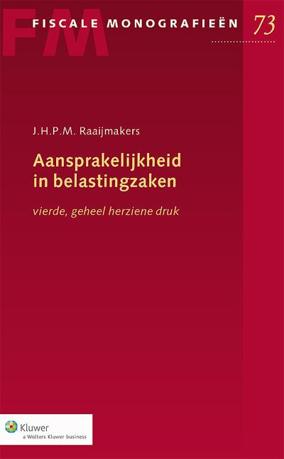 Aansprakelijkheid in belastingzaken De geheel herziene vierde druk van deze monografie behandelt zowel de formele aspecten als de materiële aspecten van de in de Invorderingswet 1990 opgenomen aansprakelijkheidsbepalingen. Daarnaast wordt ook aandacht besteed aan aansprakelijkheidsbepalingen buiten de Invorderingswet 1990, waar de ontvanger - onder voorwaarden - op grond van het zogeheten open systeem gebruik van kan maken.