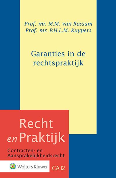 Garanties in de rechtspraktijk Dit boek is zowel interessant voor de jurist die in zijn praktijk met het fenomeen garantie wordt geconfronteerd, als voor de lezer die geïnteresseerd is in vorm en wezen van de garantie.