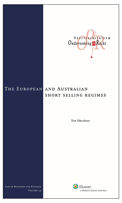 The European and Australian short selling regimes The recent global financial crisis has given rise to many regulatory changes in the field of financial law. Regulators worldwide have come up with stricter and more extensive rules, for instance with regard to banking law, the law dealing with credit rating agencies, and insolvency law.