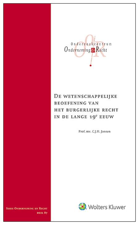 Wetenschappelijke beoefening burgerlijk recht lange 19e eeuw Dit boek geeft antwoord op de vraag welke methoden de wetenschappelijke beoefenaren van het burgerlijke recht gebruikten in de lange 19e eeuw.