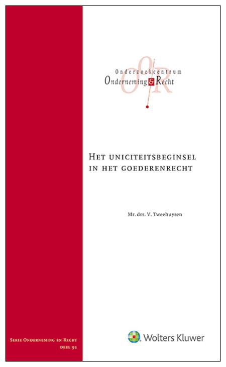 Het uniciteitsbeginsel in het goederenrecht In dit proefschrift analyseert Tweehuysen helder het uniciteitsbeginsel in het goederenrecht.