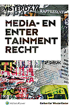Media- en entertainmentrecht De media- en entertainmentbranche kan niet zonder eigen wet- en regelgeving. Het maakt zakelijke inbedding mogelijk – en daarmee de productie van uw favoriete tv-serie. Deze uitgave biedt een introductie tot alle belangrijke aspecten van dit rechtsgebied.