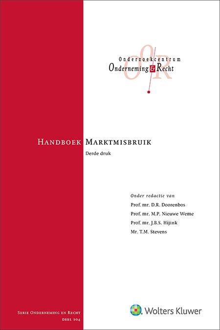 Handboek Marktmisbruik Deze uitgave maakt de lezer wegwijs in het marktmisbruikregime zoals dit geldt sinds het in werking treden van de Verordening Marktmisbruik. Daarmee is het boek onmisbaar voor zowel wetenschap als praktijk.
