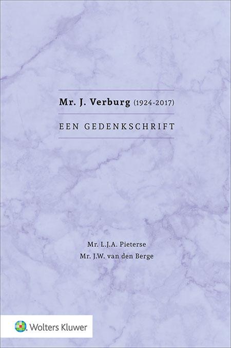 Mr. J. Verburg (1924-2017) Een gedenkschrift Op 18 september 2017 nam de wereld afscheid van Jan Verburg. Hij liet de herinnering aan een innemende persoonlijkheid en glansrijke carrière na. Dit gedenkschrift schetst Verburg als persoon en zijn levensloop als een evenzo succesvolle als markante fiscalist.