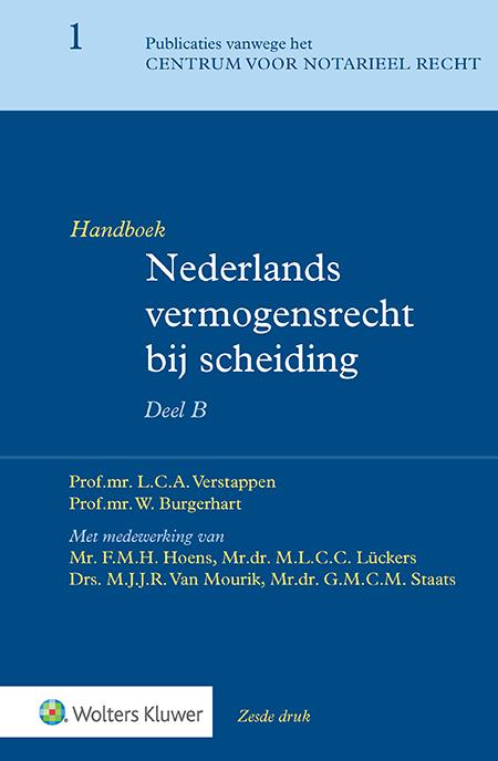 Handboek Nederlands vermogensrecht bij scheiding Het B-deel van dit tweedelige handboek diept diverse specifieke thema's rondom (echt)scheiding verder uit. Zo krijgt u inzicht in de rol van ondernemerschap – waaronder de rol van de rechtspersoon, woning en inboedel, pensioen-, partner- en kinderalimentatie en uiteenlopende fiscale aspecten relevant bij (echt)scheiding.