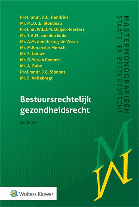 Bestuursrechtelijk gezondheidsrecht Deze uitgave slaat een unieke brug tussen het gezondheids- en bestuursrecht. De titel behandelt de belangrijkste gezondheidsrechtelijke onderwerpen, waarna het de relevante gezondheids- en bestuursrechtelijke wetten en uitvoeringsregelingen uitvoerig belicht. Inclusief actuele jurisprudentie.