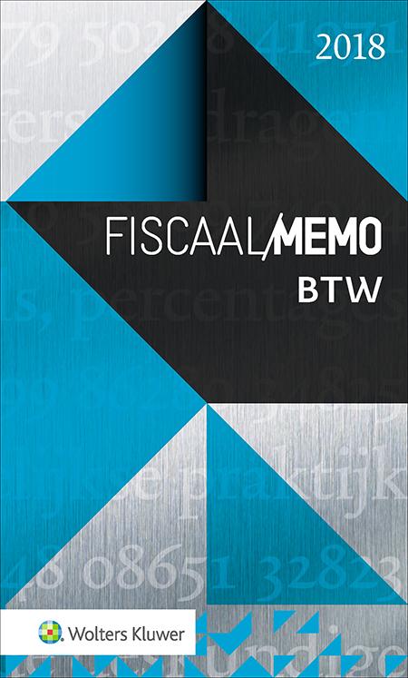 Fiscaal Memo BTW U vindt in dit memo een helder overzicht van de actuele regelingen op het gebied van btw. Op toegankelijke wijze vereenvoudigt deze uitgave een meer diepgaande studie naar btw-onderwerpen. De uitgave geeft de belangrijkste btw-regels weer en verwijst daarbij naar vindplaatsen van regelgeving en jurisprudentie.
