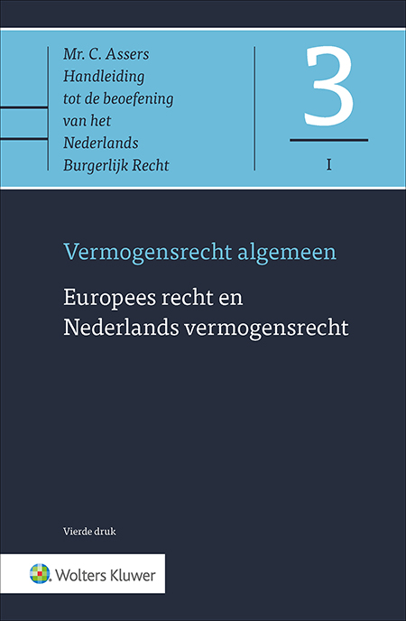 Asser 3-I Europees recht en Nederlands vermogensrecht De invloed van het Europese recht op het nationale privaatrecht blijft toenemen. Deze publicatie verschaft u grondig inzicht in de wijze waarop deze rechtsgebieden op elkaar inwerken. Er is geen andere uitgave die een dergelijk compleet overzicht biedt van de Europese regelingen relevant voor het in Nederland geldende vermogensrecht.