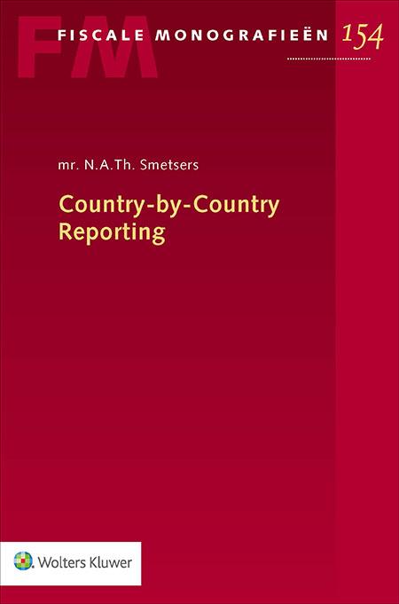 Country-by-Country Reporting Vanaf 1 januari 2016 geldt voor multinationals met een omzet vanaf € 750 miljoen een nieuwe documentatieverplichting: Country-by-Country Reporting. Deze uitgave behandelt de aanvullende verrekenprijsdocumentatie op structurele wijze. U verkrijgt een compleet beeld van de materie: van het doel en de ontstaansgeschiedenis, tot aan een uitgebreide verheldering van de regelgeving.