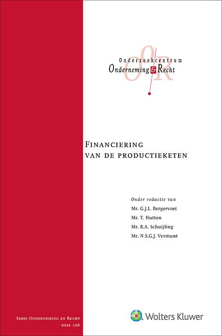 Financiering van de productieketen De financiering van de productieketen is verbonden aan tal van juridische aspecten en ontwikkelingen. Dit is de eerste bundel in Nederland die zich richt op deze materie. Een essentiële uitgave voor juristen – zowel praktijkprofessionals als academici.