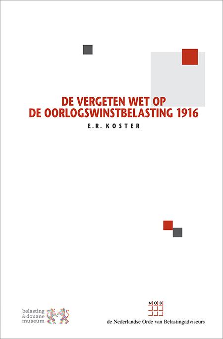 De vergeten Wet op de Oorlogswinstbelasting 1916 De Wet op de Oorlogswinstbelasting 1916 (Wet OWB) heeft in haar korte bestaan een grote financiële en fiscale betekenis gehad. Niettemin is deze wet vrijwel vergeten. Daarom beantwoordt deze uitgave de vraag: wat is de historische betekenis van de Wet OWB voor de (materiële) heffing van de Nederlandse winstbelasting?