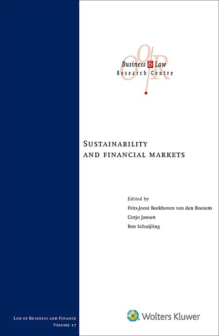 Sustainability and financial markets Het belang van een verschuiving naar een duurzamere globale economie is groter dan ooit. Spelers op de financiële markten kunnen hier een cruciale rol in spelen. Hun inspanningen omtrent duurzaamheid krijgen steeds vaker een dwingend karakter vanwege de risico's die hieraan kleven. Deze titel richt zich op deze afdwingbare wettelijke verplichtingen.