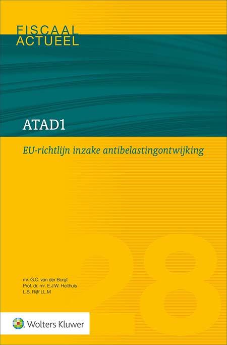 ATAD1 Op 1 januari 2019 trad de eerste EU-antibelastingontwijkingsrichtlijn in werking, kortweg ATAD1 genoemd. Deze richtlijn introduceerde drie nieuwe regelingen in de Nederlandse belastingwetten. Deze titel verheldert en schetst voor u als praktiserend fiscalist een compleet beeld van deze regelingen. Inclusief concrete voorbeelden, al dan niet ontleend aan de wetsgeschiedenis.