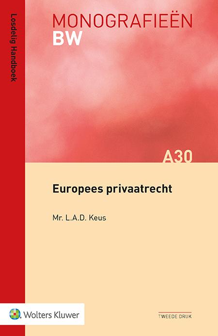 Europees Privaatrecht In deze titel vindt u de huidige stand van het Europees privaatrecht aan de hand van verschillende bronnen toegelicht. De overzichtelijke structuur helpt u snel uw weg te vinden in de beknopte maar toch complete behandeling van de materie. Waar mogelijk legt de auteur verbanden met de nationale rechtspraktijk.