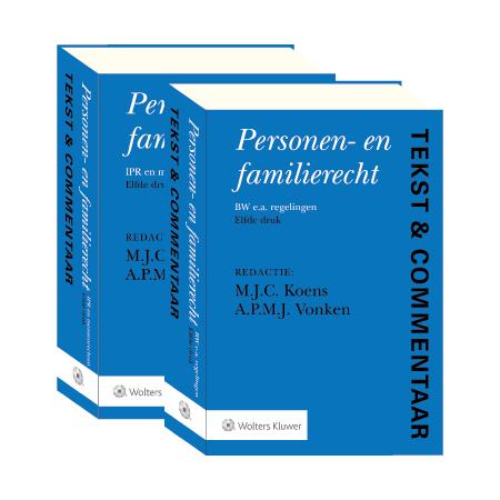 """Tekst & Commentaar Personen- en Familierecht De 11e druk van dit Tekst &amp; Commentaar-deel biedt de praktijkjurist een diepgaand en overzichtelijk commentaar, op Boek 1 BW Personen- en familierecht, op ruime schaal aangevuld met aanverwante wet- en regelgeving. Voorts wordt een aantal IPR-onderwerpen op het terrein van het personen- en familierecht behandeld. De wetteksten en commentaren zijn bijgewerkt tot en met 1 augustus 2020.<br /><br /> <p><a href=""""/tekst-en-commentaar/proefabonnement"""">Probeer Tekst &amp; Commentaar online</a>één maand gratis en vrijblijvend!</p> <p>Beschikbaar als online uitgave (Navigator), boek (abonnement) en WebApp.</p>"""