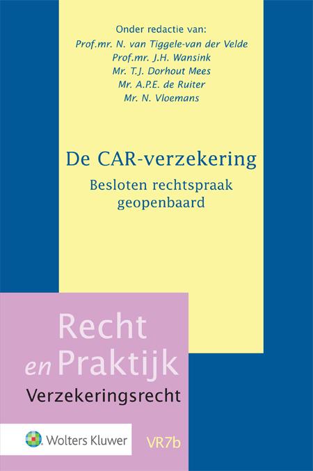 De CAR-verzekering. Besloten rechtspraak geopenbaard Houdt u zich bezig met bouw en verzekeringen? Dan kunt u niet om de CAR-verzekering heen. Deze uitgave sluit aan bij de laatste ontwikkelingen omtrent de CAR-rechtspraak. De adviezen over belangrijke CAR-onderwerpen zijn dankzij deze publicatie voor iedereen beschikbaar.
