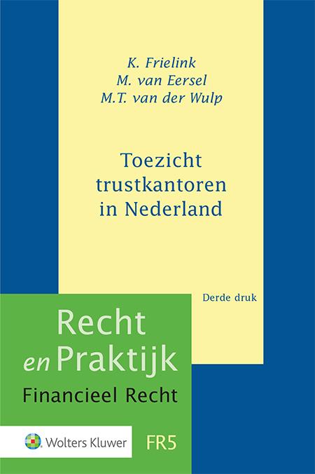 Toezicht trustkantoren in Nederland Deze praktische gids biedt een diepgaand en actueel overzicht van de wet- en regelgeving die op de Nederlandse trustsector van toepassing is. U treft hierin naast de actuele wetgeving ook beleidsregels, richtlijnen en verwijzingen naar relevante jurisprudentie en literatuur.