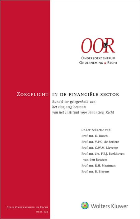Zorgplicht in de financiële sector De bijzondere zorgplicht van de Nederlandse financiële sector is allesbehalve een rustig bezit. U vindt in deze bundel prikkelende analyses van recente ontwikkelingen en een vooruitblik op de toekomst van de zorgplicht. De publicatie verschijnt ter gelegenheid van het tienjarig bestaan van het Instituut voor Financieel Recht.