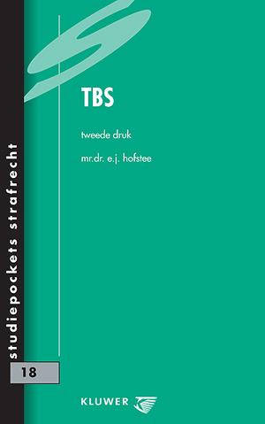 TBS De TBS is een strafrechtelijke maatregel die regelmatig de publiciteit haalt en waarover heel wat te zeggen valt. Deze studiepocket geeft inzicht in alle aspecten van de TBS.