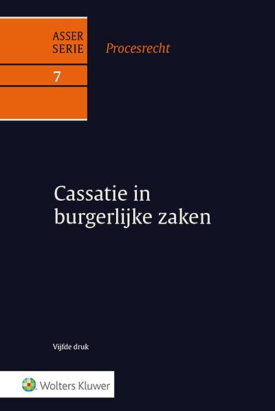 Asser Procesrecht 7 Cassatie in burgerlijke zaken Deze volledig vernieuwde vijfde druk brengt u weer helemaal up-to-date op het gebied van cassatie in burgerlijke zaken.