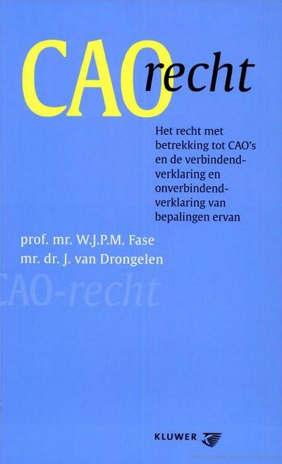 CAO-recht In deze uitgave worden de diverse aspecten van het CAO-recht behandeld, mede aan de hand van de rechtspraak en de literatuur. De tekst van de Wet op de CAO en van de Wet AVV, alsmede enige besluiten, zoals het Toetsingskader AVV, zijn als bijlagen opgenomen. De geciteerde literatuur is eveneens in een bijlage opgenomen.