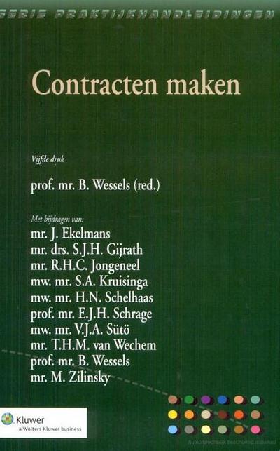 """Contracten maken Deze publicatie """"Contracten maken"""" is de voortzetting van het boek met de titel """"Praktijkhandleiding algemene voorwaarden"""", dat sedert 1992 op de markt is en in 2002 haar vierde druk beleefde."""