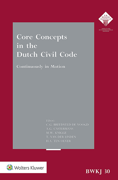 Core Concepts in the Dutch Civil Code This edition of the Leiden Yearbook of Private Law analyses several core concepts within the Dutch Civil Code and makes it clear how these concepts have been influenced by transnational instruments. The book covers three large areas of the Dutch Civil Code - contract, tort and institution.