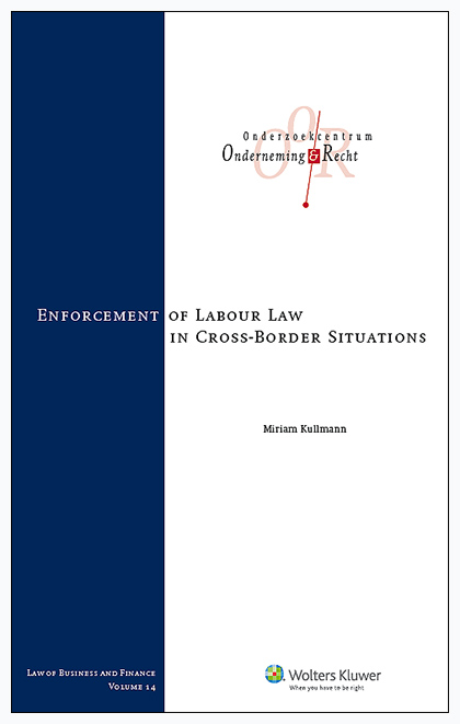 Enforcement of labour law in cross-border situations The enforcement of labour law in cross-border worker situations increasingly gains attention at EU and Member State level. This book addresses an important question: in which ways and to what extent do EU rules and EU case law exert influence on the Dutch, German, and Swedish methods to monitor and enforce labour law in transnational situations? <p>&nbsp;</p>
