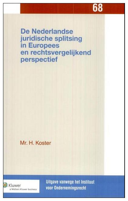 Nederlandse juridische splitsing in Europees en rechtsvergelijkend perspectief Centraal in dit boek staat de faciliteit van de juridische splitsing. Onderzocht is of er mogelijkheden zijn om de regeling van de juridische splitsing in Nederland te verbeteren op het gebied van de reikwijdte van de rechtshandeling, de procedurele aspecten en de voorschriften ter bescherming van aandeelhouders, schuldeisers en werknemers.