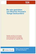 De vele gezichten van Maarten Kroeze's 'bange bestuurders' In deze uitgave vindt u actuele analyses rond het thema 'bange bestuurders', variërend van aansprakelijkheid van vennootschapsbestuurders in diverse rechtsgebieden tot aansprakelijkheid van andere functionarissen dan de directe/formele bestuurder. Ook worden mogelijke angstremmers bij bestuurdersaansprakelijkheid besproken.