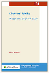 Directors' liability The financial crisis has intensified a fierce discussion on the question of what is needed to compel businesses to adhere to good corporate governance. In this doctoral dissertation Thy Pham argues for directors' liability as a corporate governance instrument with a twofold effect: to increase correct behaviour and to sanction culpable conduct.