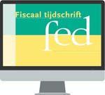 Fiscaal Tijdschrift FED <p>Bekend om het onafhankelijke en kritische geluid van de annotaties over de belangrijkste jurisprudentie en van de beschouwingen over actuele fiscale ontwikkelingen. Deze online uitgave wordt frequent bijgewerkt en heeft een online archief dat teruggaat tot 1983.</p>