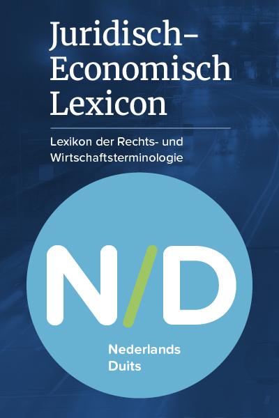Juridisch-Economisch Lexicon NL-DE Snel en trefzeker uw juridische tekst in het Duits. Het onmisbare online vakwoordenboek dat u helpt bij het vertalen van het Nederlands naar het Duits en het schrijven van uw eigen teksten in het Duits.