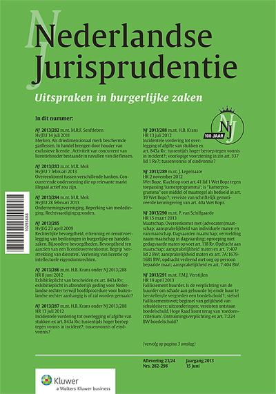 Nederlandse Jurisprudentie Burgerlijke Zaken In deze deeleditie van de NJ worden wekelijks alleen de civiele zaken uit de NJ gepubliceerd.