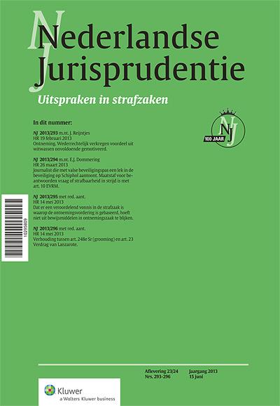 Nederlandse Jurisprudentie Strafzaken In de deeleditie NJ Strafzaken worden alleen de strafrechtelijke uitspraken uit de NJ gepubliceerd.