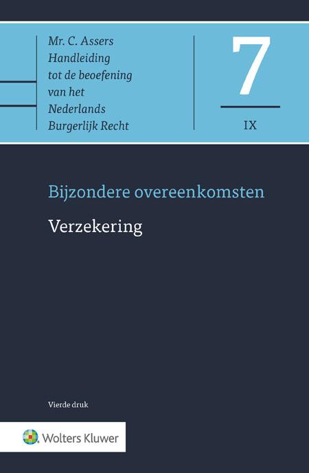 Asser 7-IX* Verzekering Deze studenteneditie bevat de delen I en II van het gerenommeerde Asser-deel 7-IX. De editie bevat een algemeen deel en het deel dat specifiek over schadeverzekering gaat. Deze selectie is afgestemd op het onderwijsaanbod op het terrein van het Verzekeringsrecht aan de Universiteiten van Rotterdam, Tilburg, Leiden en Amsterdam.