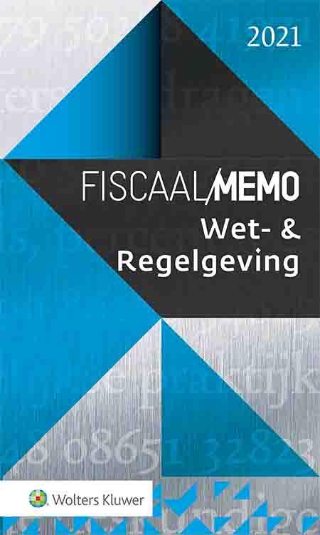 Fiscaal Memo Wet- & Regelgeving <span>Fiscalisten en belastingdeskundigen beschikken met dit memo over de belangrijkste fiscale bepalingen uit wetten, uitvoeringsbesluiten en uitvoeringsregelingen. Overzichtelijk gestructureerd en bondig behandeld, zodat je snel vindt wat je zoekt. In alle gevallen is de stand van wet- en regelgeving per 1 mei 2021 weergegeven, uiteraard inclusief noodmaatregelen in verband met corona.<br /><br /><em>Beschikbaar als boek én online uitgave.</em></span>