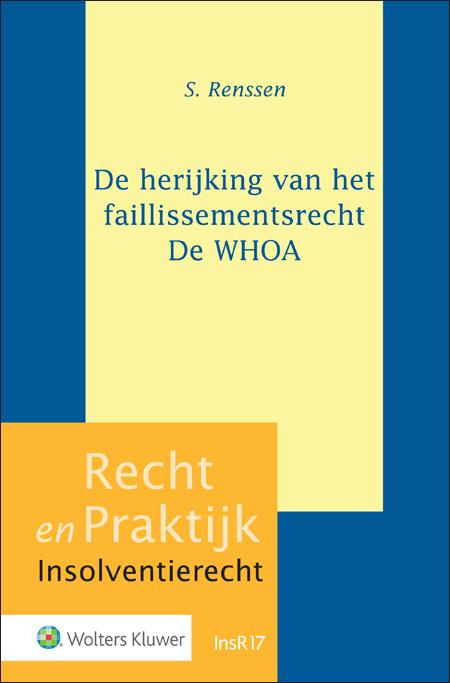 De herijking van het faillissementsrecht - De WHOA Dit is de eerste publicatie die op heldere wijze het gehele wetgevingstraject van de WHOA in kaart brengt. Hiermee verrijkt de titel het decor waarin de individuele bepalingen een rol spelen en voorziet in een koers voor de toekomstige toepassing ervan.