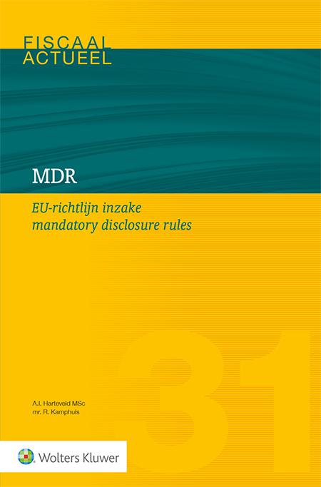 MDR EU-richtlijn inzake mandatory disclosure rules <p>Dit boek beschrijft op overzichtelijke wijze de nieuwe regelgeving omtrent het melden van potentieel agressieve grensoverschrijdende fiscale transacties: de zogeheten EU-richtlijn inzake de mandatory disclosure rules (kortweg MDR-richtlijn). Het boek dient als handboek voor elke praktiserende fiscalist en geeft zowel uitleg over de achtergrond als inhoud van de nieuwe regelgeving en signaleert en adresseert daarnaast diverse onduidelijkheden en aandachtspunten. Kortom: EU-richtlijn inzake mandatory disclosure rules is van grote waarde voor elk type (bedrijfs)fiscalist.</p>