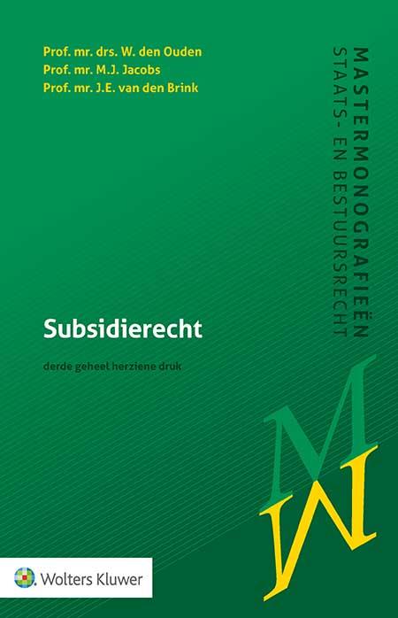 Subsidierecht <p><span>Dit is het enige actuele handboek over subsidierecht. Hierin worden de belangrijkste onderwerpen van het algemene subsidierecht besproken aan de hand van wetsgeschiedenis en de jurisprudentie. Deze derde druk is sterk in omvang toegenomen en volledig geactualiseerd. Ook de opkomst van nieuwe financieringsmaatregelen en de coronasteunmaatregelen komen aan bod.</span></p>