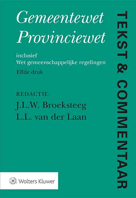 """Tekst & Commentaar Gemeentewet Provinciewet <span>Dit Tekst & Commentaar-deel is bestemd voor iedereen die in studie of praktijk te maken heeft met het gedecentraliseerd openbaar bestuur. In deze nieuwe, 11</span><sup>e</sup><span><span></span>druk zijn tevens de voor de decentrale overheden meest relevante bepalingen van de Grondwet, de Wet algemene regels herindeling (Wet ARHI) en de Bekendmakingswet opgenomen.</span><br /><br /><a href=""""/tekst-en-commentaar/proefabonnement"""">Probeer Tekst & Commentaar online</a><span>één maand gratis en vrijblijvend!<br /><br />Beschikbaar als online uitgave (Navigator), boek en WebApp.</span><br /><br /><br />"""