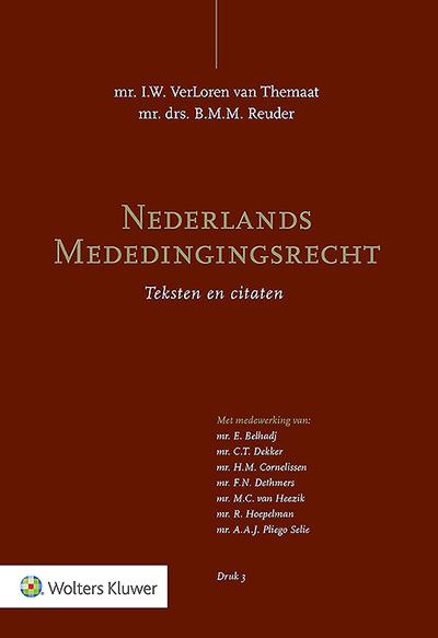 Nederlands Mededingingsrecht Nederlands Mededingingsrecht (Teksten en citaten) biedt u een gestructureerde toegang tot alle relevante Nederlandse regelgeving over het mededingingsrecht. De regelgeving is voorzien van overzichtelijk, artikelsgewijs commentaar in de vorm van citaten uit wetsgeschiedenis, beschikkingen en rechtspraak.