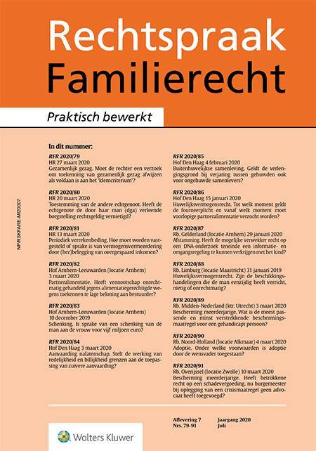 Rechtspraak Familierecht <span>Rechtspraak Familierecht publiceert elfmaal per jaar een selectie van actuele uitspraken op het terrein van het personen- en familierecht.</span>